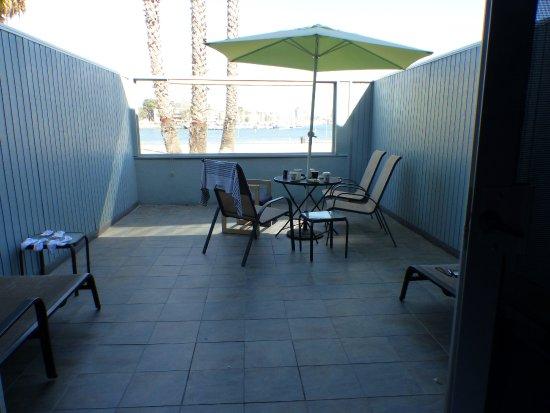 Foghorn Harbor Inn Hotel: notre terrasse privée .. vue de la chambre