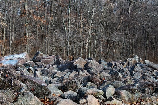 Potts Grove, PA:  Ringing rocks are also known as sonorous rocks or lithophonic rocks, as used in idiophonic musi