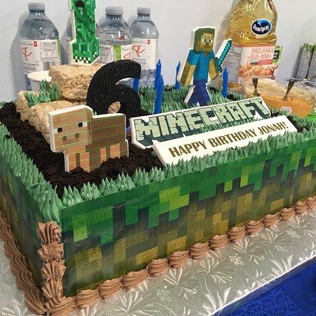 Minecraft Birthday Cake Inside