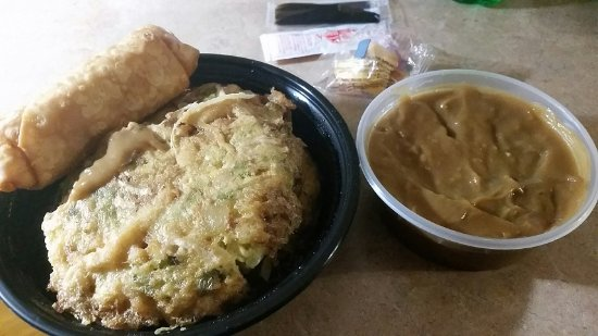 Williamsport, MD: Chicken Egg Foo Young and large egg roll.