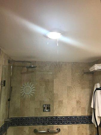 Bathroom Ceiling Leaking Like A Waterfall Picture Of Grand Bahia - Bathroom ceiling leaking