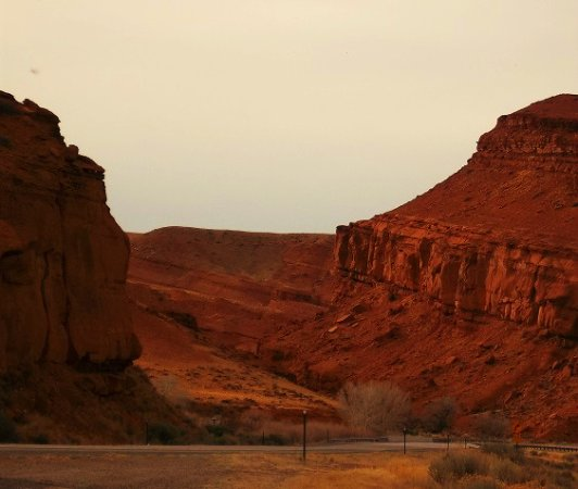 Dubois, WY: Red rock formations east of town, on Indian Reservation