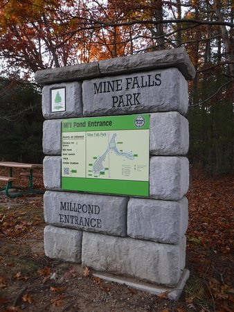 Mine Falls Park: Interpretive marker