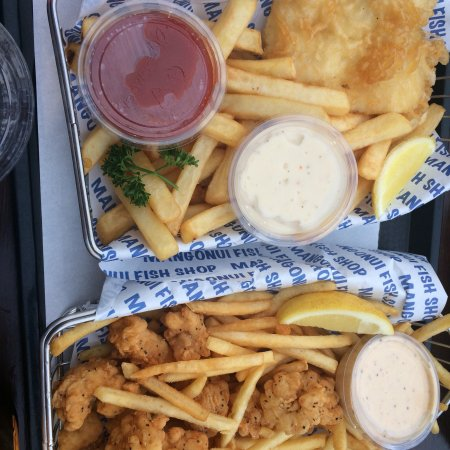 Mangonui, Νέα Ζηλανδία: Fish and Chips, Squid and Chips