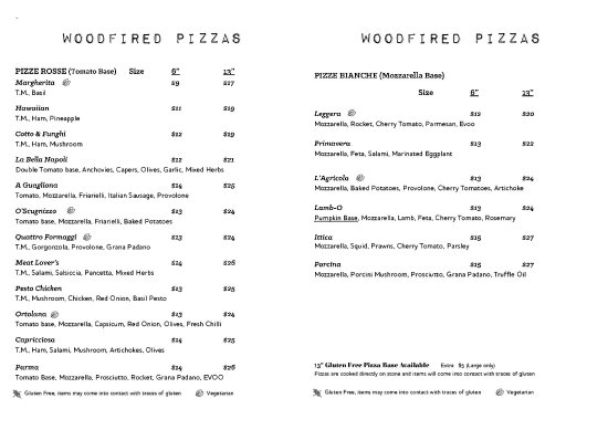 Woodpeckers: Lunch - Woodfired Pizzas