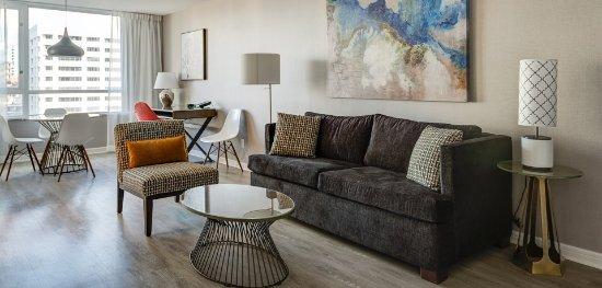 Standard Floor Two Bedroom Suite Living Room Area Picture Of Carmana Plaza Vancouver Tripadvisor