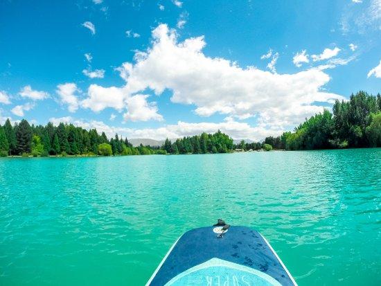 Twizel, New Zealand: paddle boarding on lake ruataniwha