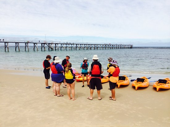 Book a guided tour of the Port Noarlunga Reef in glass-bottom kayaks.