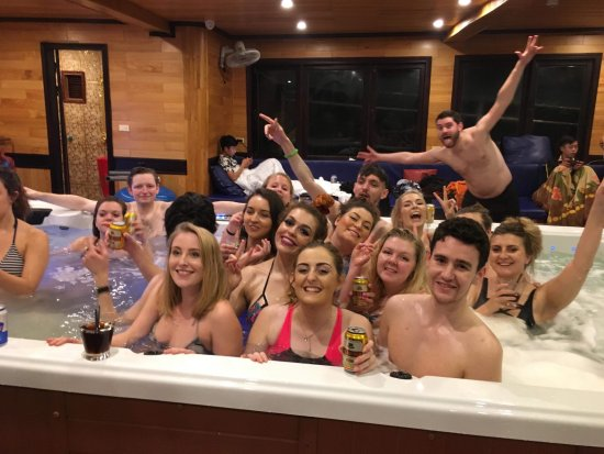large hot tub - Picture of Oasis Bay Party Cruise - Halong Bay, Tuan ...