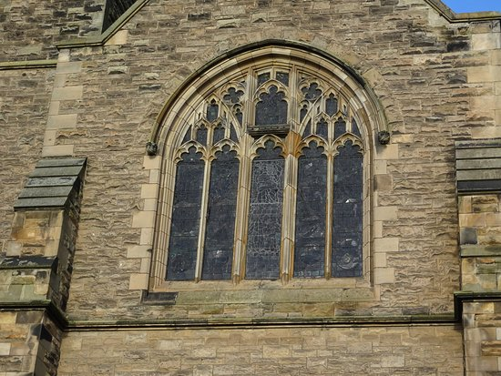 Burntisland, UK: stained glass window