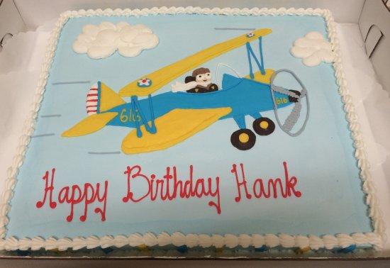 Birthday Cake With Plane Westhampton Pastry Shop Richmond VA