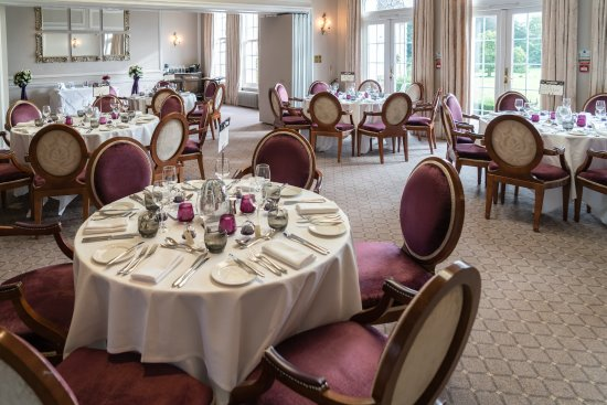 Brockencote Hall Hotel: The Chaddesley Restaurant set up ready for our Wedding Breakfast