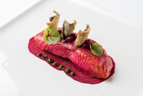 Enoteca Italiana: Wild catch Salmon marinated in beetroot water
