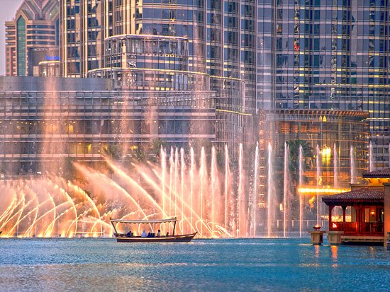 Witness the magnificent Dubai Fountain in action with front-row views