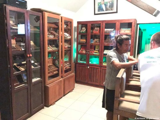 West End Cigar Bar : humidors in the bar