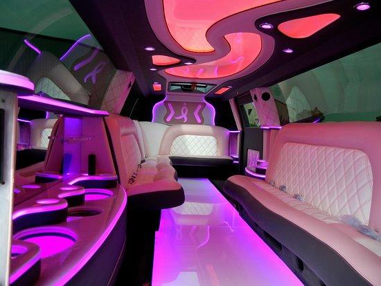 Watervliet, NY: 20 Passenger Pink Escalade Limo interior