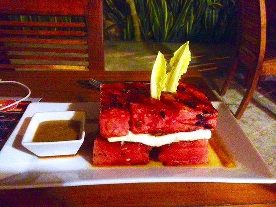 Taberna de los Frailes: dish with water melon