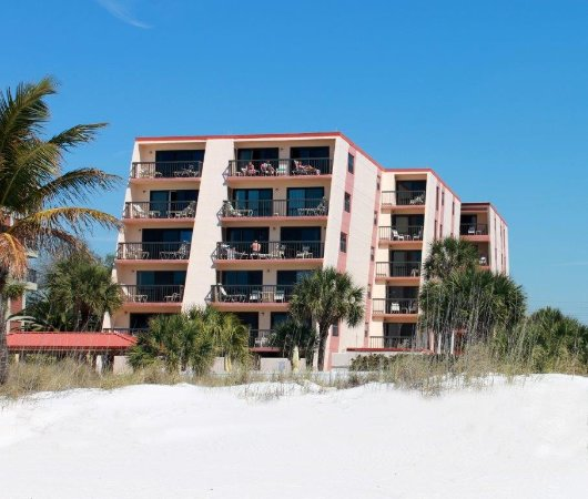 View of Gulf Gate Resort from the beach!
