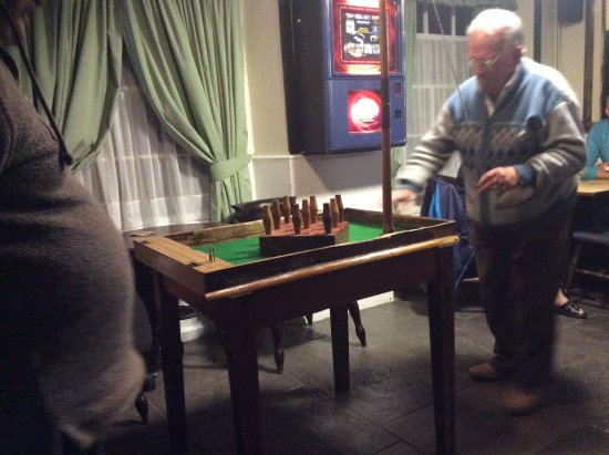 Ditcheat, UK: Table skittles a favourite with the locals