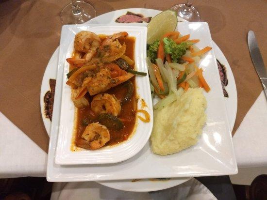 Quinta Real Hotel and Convention Center: Camarones al Gusto, A la Diabla