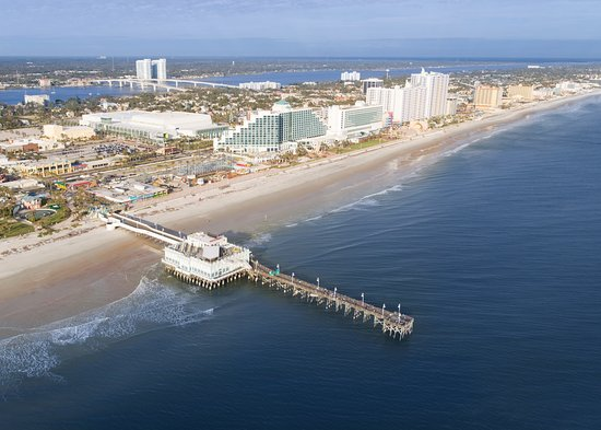 Daytona Beach Area, ฟลอริด้า: Birdseye view of Daytona Beach, FL