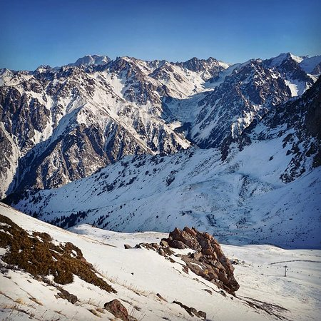 View on the Tian Shan mountains from the Shimbulak. - Picture of ...