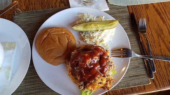 Harvest on Main: BBQ pulled Pork sandwich