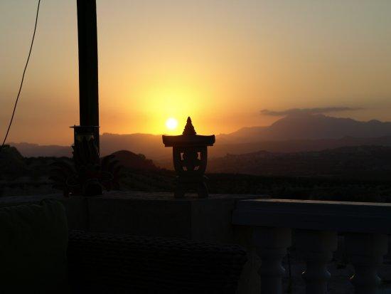 Barbarroja, España: sunset from the terrace