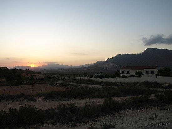Barbarroja, España: sunset from the front of La Casa Blanca