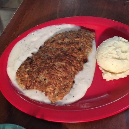 Chicken fried steak with mashed potatoes and rolls picture of isaacks restaurant chicken fried steak with mashed potatoes and rolls forumfinder Choice Image