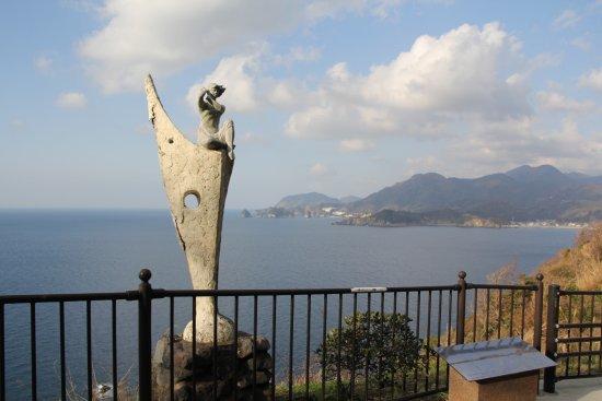 Matsuzaki-cho, Japón: 富士見彫刻ラインにある一つの彫刻、景色も奇麗でした