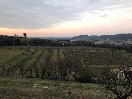 Montorio Verona, Italien: La vista dalla terrazza: a destra il Castello di Montorio, Verona sullo sfondo
