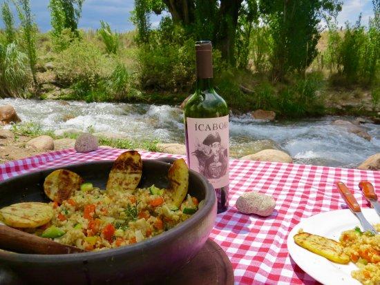 Tunuyan, Argentina: Riverside lunch