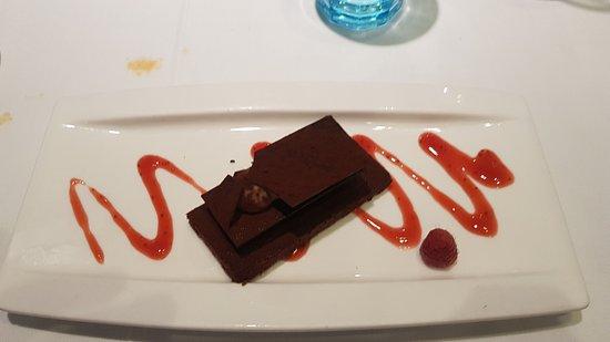 Can Majó: Dessert mille feuille chocolat