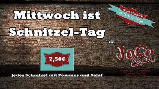 Ransbach-Baumbach, Tyskland: Mittwoch ist Schnitzel-Tag
