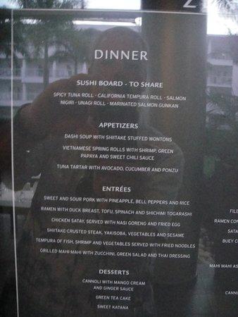 Steak House Menu - Picture of Hotel Riu Palace Jamaica ...