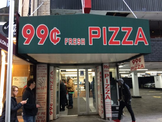99 Cents Fresh Pizza Cent New York