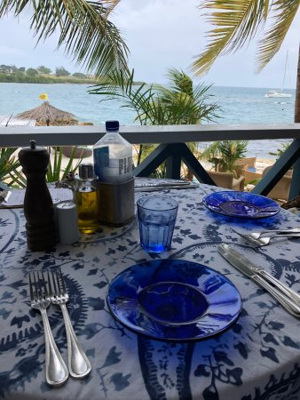 Saint George, Antigua: View from our table on the veranda