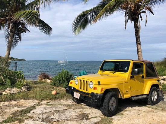 Saint George, Antigua: Convenient and safe place to park while dining