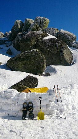 Jindabyne, Australien: Snow camping trip with Mike!