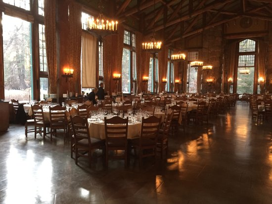 The Majestic Yosemite Hotel: Dining Room Just Before The 5 Course Dinner  With Wine Paring