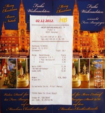 Uctenka R 2012 Picture Of Hofbraeuhaus Munich Tripadvisor