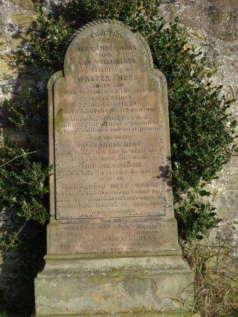 Kirkcaldy, UK: old gravestone