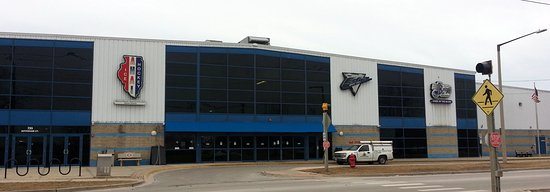 front of the Edge Ice Arena in Bensenville