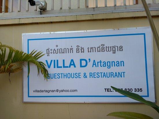 Le D'Artagnan: Signage