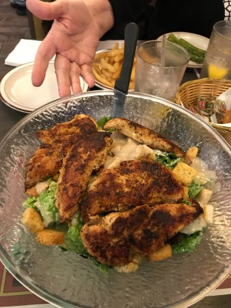 Mount Ephraim, NJ: Caesar Salad topped with grilled chicken