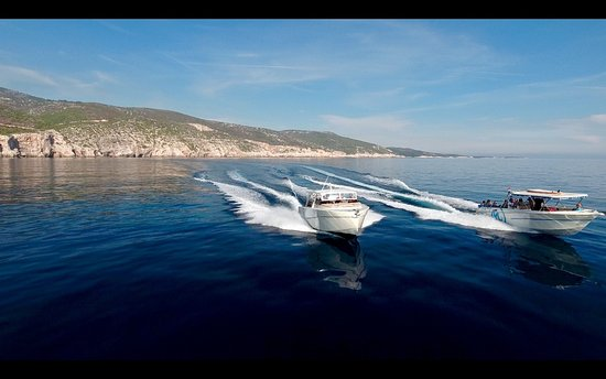 Hvar, Croacia: Speedboats Colnago 37 & Enzo 35 on their way to the caves