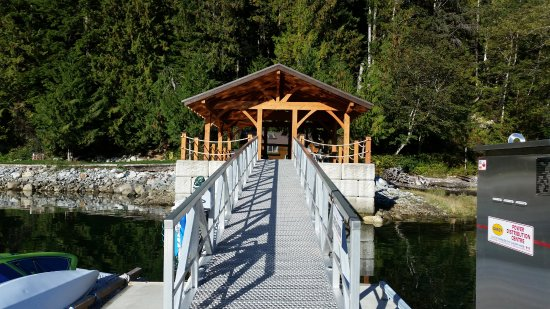 Sunshine Coast, Canada: Ramp up to the pavilion