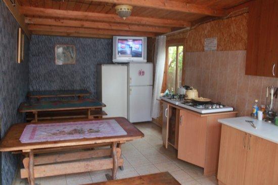 Burabay, كازاخستان: Кухня для самостоятельного приготовления пищи. Через дорогу есть продуктовый магазин.