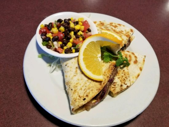 Sagle, ID: Our Steak Quesadilla with Black Bean and Corn Relish - 8.95